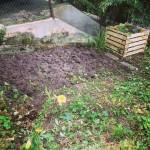 Der Garten  - Stand August 2014 - Tag 1 urbar machen.